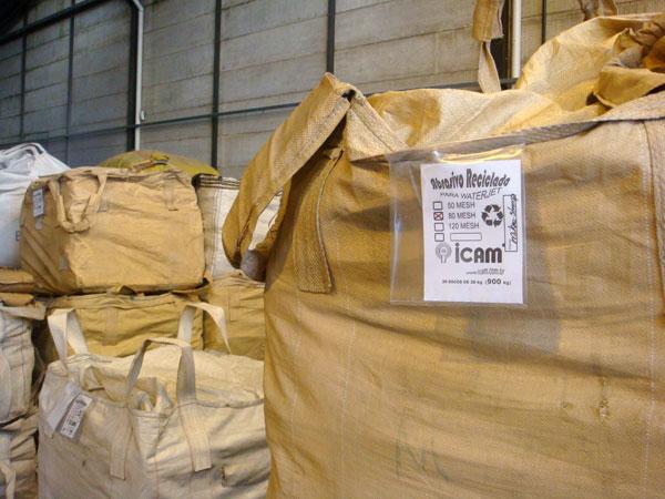 area abrasivo reciclado
